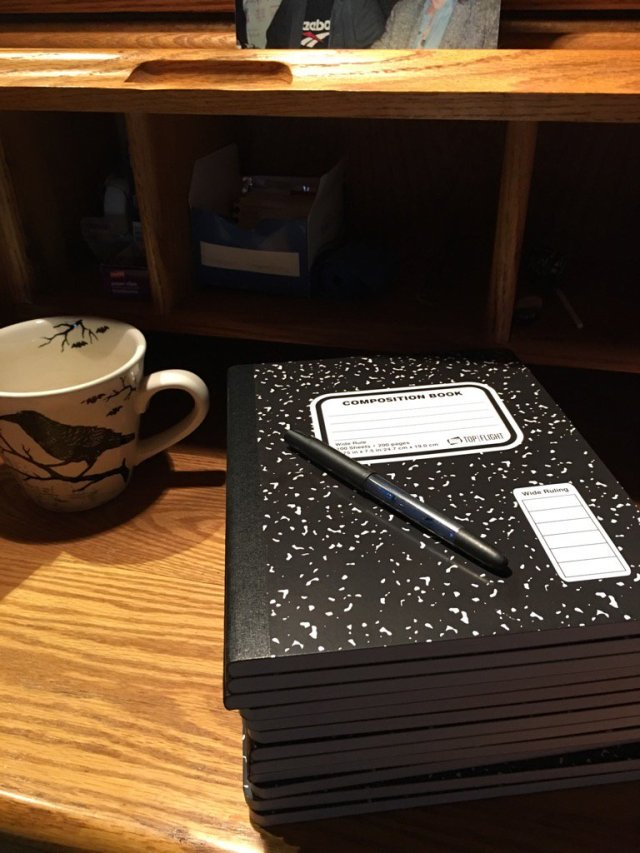 Shiny new composition books!